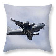 Airplane In The Sky Throw Pillow