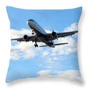 Airplane Landing Throw Pillow