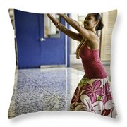 Airport Aloha Throw Pillow