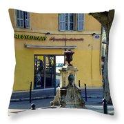 Aix En Provence Fountain Throw Pillow