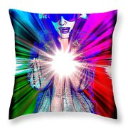 Ajay In Abstract Throw Pillow