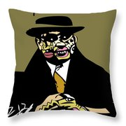 Al Capone Full Color Throw Pillow