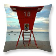 Ala Moana Lifeguard Station Throw Pillow