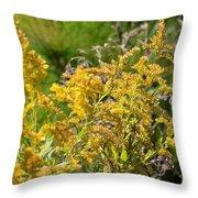 Alabama Goldenrod Throw Pillow