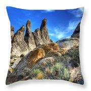Alabama Hills Granite Fingers Throw Pillow