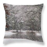 Alabama Winter Wonderland Throw Pillow