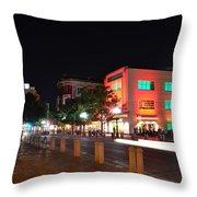 Alamo Plaza Throw Pillow
