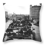 Alamo Plaza In San Antonio Throw Pillow