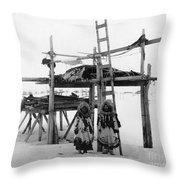 Alaska: Eskimo Storage Throw Pillow