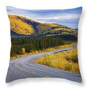 Alaska Highway Near Beaver Creek Throw Pillow