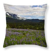 Alaska Lupine Throw Pillow