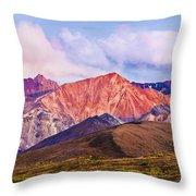 Alaska Range And Fall Colours Throw Pillow