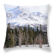 Alaska Range Peak Throw Pillow