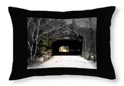 Albany Covered Bridge  Throw Pillow