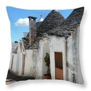 Alberobello Street Scene Throw Pillow