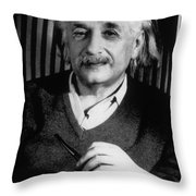 Albert Einstein, German-american Throw Pillow