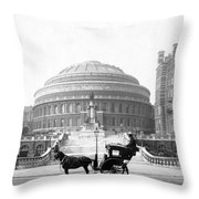 Albert Hall In London - England - C 1904 Throw Pillow