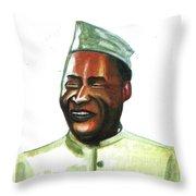 Albert John Luthuli Throw Pillow