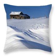 Alberta, Canada Abandoned Farm Building Throw Pillow