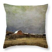 Alberta Farm Land Throw Pillow
