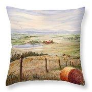 Alberta Foothills Throw Pillow
