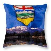 Albertas Rocky Mountains Throw Pillow
