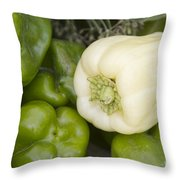 Albino Bullnose Pepper Throw Pillow