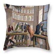 Albrecht Von Haller In Lab Throw Pillow