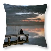 Albufera. Couple. Valencia. Spain Throw Pillow