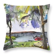 Albufera De Valencia 10 Throw Pillow