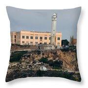 Alcatraz Island Lighthouse - San Francisco California  Throw Pillow
