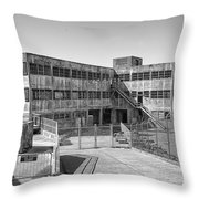 Alcatraz Model Industries Building Throw Pillow