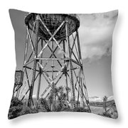 Alcatraz Penitentiary Water Tower Throw Pillow