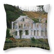 Alcatraz Skeleton Throw Pillow