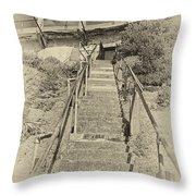 Alcatraz Two-way Work Staircase Throw Pillow