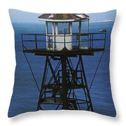 Alcatraz Watch Tower Throw Pillow by Paul W Faust -  Impressions of Light