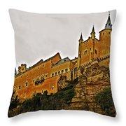 Alcazar De Segovia - Spain Throw Pillow
