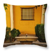 Alcazar Fountain In Spain Throw Pillow