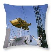 Alcoa Ship Destines For South America Throw Pillow