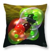 Alcohol Molecule 4 Throw Pillow