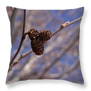 Alder Cones Throw Pillow