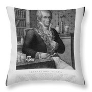 Alessandro Volta, Italian Physicist Throw Pillow by Omikron