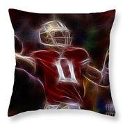 Alex Smith - 49ers Quarterback Throw Pillow