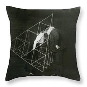 Alexander Graham Bell And Mabel Kissing Throw Pillow
