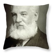Alexander Graham Bell Throw Pillow