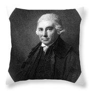 Alexander Monro II, Scottish Anatomist Throw Pillow