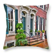 Alexandria Row Houses Throw Pillow