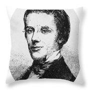 Alfred E. Beach (1826-1896) Throw Pillow