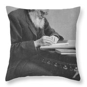 Alfred Russel Wallace Throw Pillow by Science Source