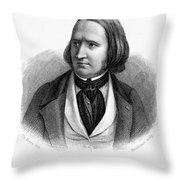 Alfred Victor De Vigny Throw Pillow